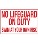 Poolmaster Sign-Scarolina-No Lifeguard