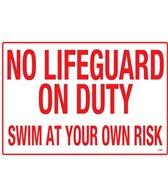 Poolmaster Sign-Scarolina-No Lifeguard