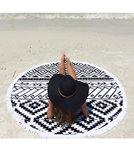 Beach Lulu The Tribal Round Beach Towel