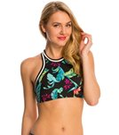 Seafolly Jungle Out There Crop Active Tank Bikini Top