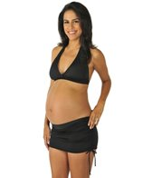 Prego Maternity Swimwear Solid Ruched Bikini Set