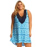 Dotti Plus Size Tie Dye Twist Hi-Low Dress
