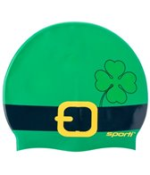 Sporti St. Patrick Belt Silicone Swim Cap