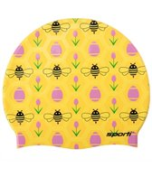 Sporti A Bee's Life Silicone Swim Cap