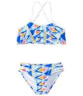 Raisins Girls' Tulum Dreamin' Flounce Ruffle Two Piece Bikini Set (4yrs-6X)