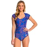 Roxy Pop Surf Polynesia One Piece S/S Swimsuit