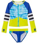 Limeapple Swimwear Girls' Hawaii Zip Up Rash Guard Set (4yrs-16yrs)