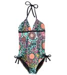 Hurley Turkish Floral Halter One Piece Swimsuit