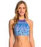 Quintsoul Swimwear Boho Bliss Lace Up High Neck Crop Bikini Top