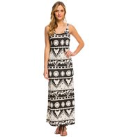 Lucy Love Cactus Flower Keep It Simple Maxi Dress