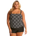 Delta Burke Plus Size Peek-a-Boo Two Piece Shortini Set