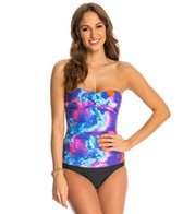 Ceeb Northern Lights Bandeau Blouson One Piece Swimsuit