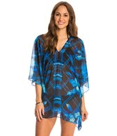 Carmen Marc Valvo Caribbean Breeze Sophia Mix Media Cover Up Tunic