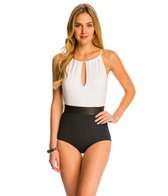 Carmen Marc Valvo Cosmopolitan Elizabeth High Neck One Piece Swimsuit