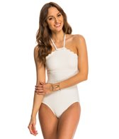 Kate Spade Marina Piccola Scalloped High Neck One Piece Swimsuit