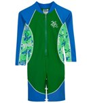 Tuga Boys' UPF 50+ Turtle Paradise High Tide L/S One Piece Sun Suit (2yrs-6yrs)