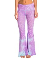 Teeki Lavender Mermaid Fairy Queen Bell Bottom Yoga Pants
