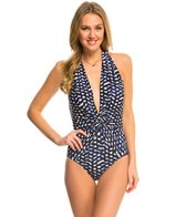Robin Piccone Audrey Plunging Halter One Piece Swimsuit