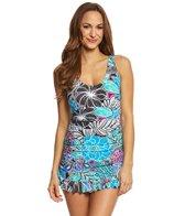 Maxine Tahitian Floral Shirred Swimdress
