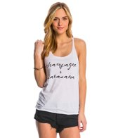 Jiva Champagne + Savasana Racer Back Workout Tank Top