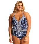 BLEU Rod Beattie Plus Size I've Got You Babe Plunge Halter One Piece Swimsuit