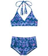 Roxy Girls' Summer Escape Triangle Short Swimsuit Set (7-16)