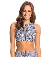 PBSport New Twist & Twin Front Zip Crop Bikini Top