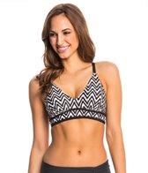 PBSport Triangle Chevron Sweetheart Neck Bikini Top