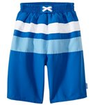 iPlay Boys' Classic Colorblock Trunks w/Built-in Swim Diaper (6mos-4T)
