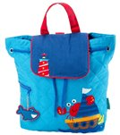 Stephen Joseph Nautical Quilted Backpack