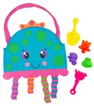 Stephen Joseph Kids' Jellyfish Beach Tote (Includes Sand Toy Set)