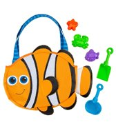 Stephen Joseph Kids' Clownfish Beach Tote (Includes Sand Toy Set)