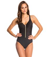 Miraclesuit Solid Ziptress One Piece Swimsuit