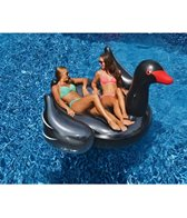 Swimline Inflatable Giant Black Swan Ride-On Pool Float
