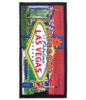 Kaufman Sales Las Vegas Sign 30 x 60 Beach Towel