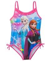 Disney Girls' Frozen One Piece Swimsuit w/Free Goggles (4-6X)