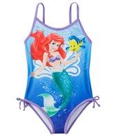 Disney Girls' Little Mermaid One Piece Swimsuit w/Free Goggles (4-6X)