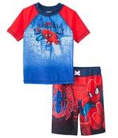 Marvel Boys' Spiderman Swim Trunks & Rashguard Set (2T-4T)