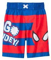 Marvel Boys' Spiderman Striped Swim Trunks (2T-4T)