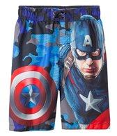 Marvel Boys' Captain America Swim Trunks (4-7)