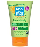 Kiss My Face SPF 30 Face And Body Mineral Sunscreen, 3.4 oz