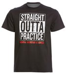 AMBRO Manufacturing Men's Short Sleeve Straight Outta Practice Swim Tee Shirt