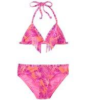 Roxy Girls' Valencia Beach Two Piece Triangle Bikini Set (7-16)