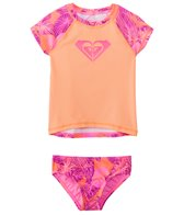 Roxy Girls' Valencia Beach Two Piece Rashguard Set (2T-6X)