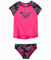 Roxy Girls' Pop Trop Two Piece Rashguard Set (2T-6X)