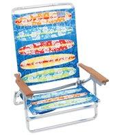 Rio Brands Kowabunga Surf Board Print Classic 5-Position Lay Flat Beach Chair