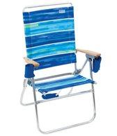 Rio Brands The Hi-Boy Blue Stripe Beach & Backyard Chair