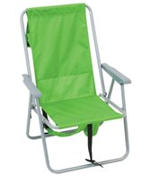 Rio Brands The Basic Lime Backpack Chair w/ Mesh Pouch