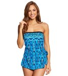 Maxine Tattoo Tribal Bandeau Sarong One Piece Swimsuit