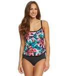 Maxine English Garden Scoop Faux Tankini One Piece Swimsuit